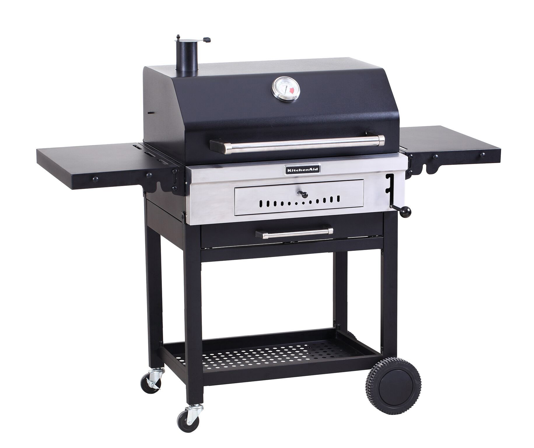 Cart Style Charcoal Grill In Black With
