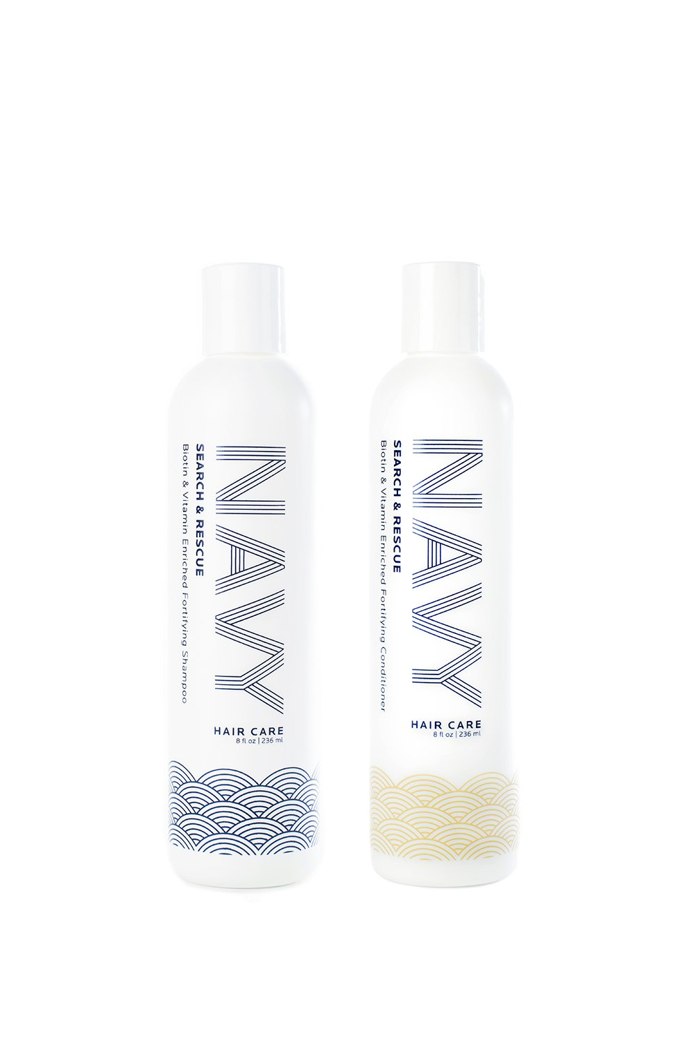 Search and Rescue: Biotin and Vitamin Enriched Fortifying Shampoo and Conditioner I NAVY Hair Care