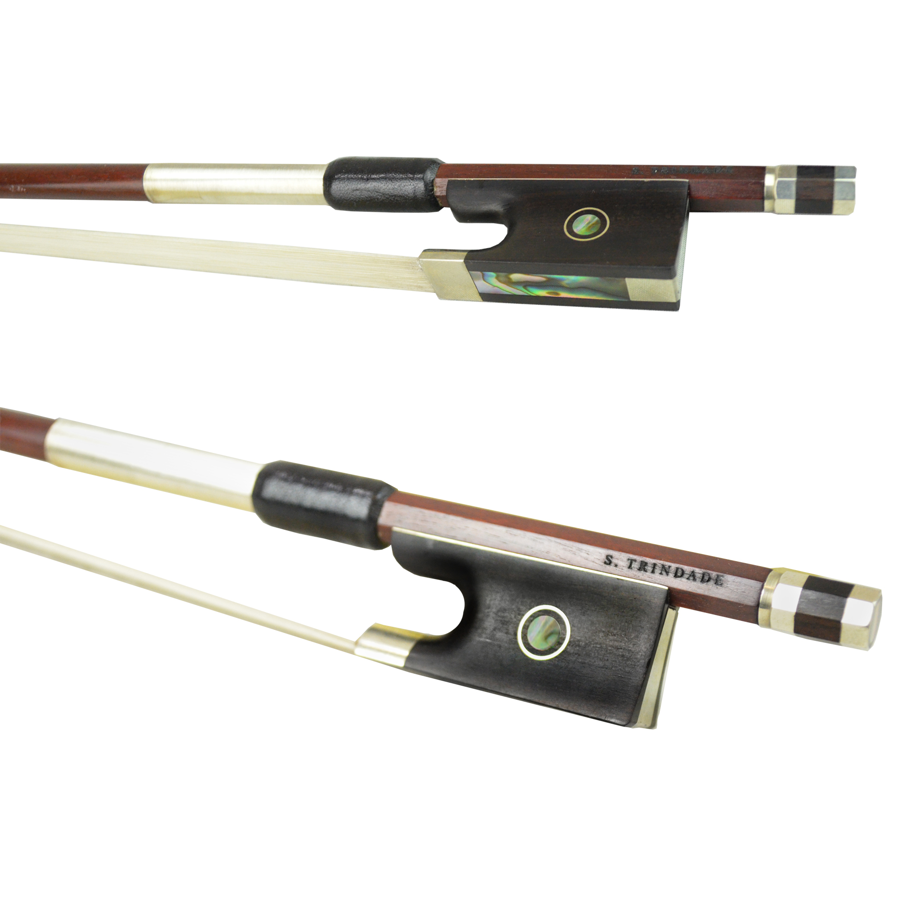 L'archet Brasil Nickel Mounted Violin Bow by S. Trindade in action