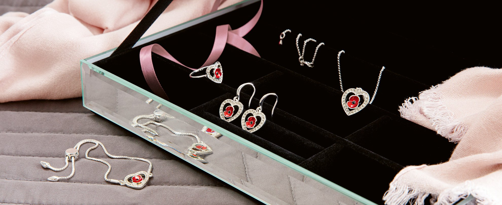 Poppy Crystal Heart Collection
