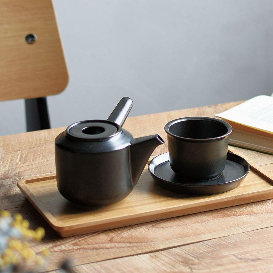 KINTO LEAVES TO TEA CUP & SAUCER 160ML BLACK THUMBNAIL 3