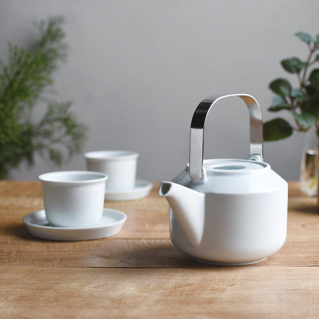 KINTO LEAVES TO TEA TEAPOT 600ML WHITE THUMBNAIL 2