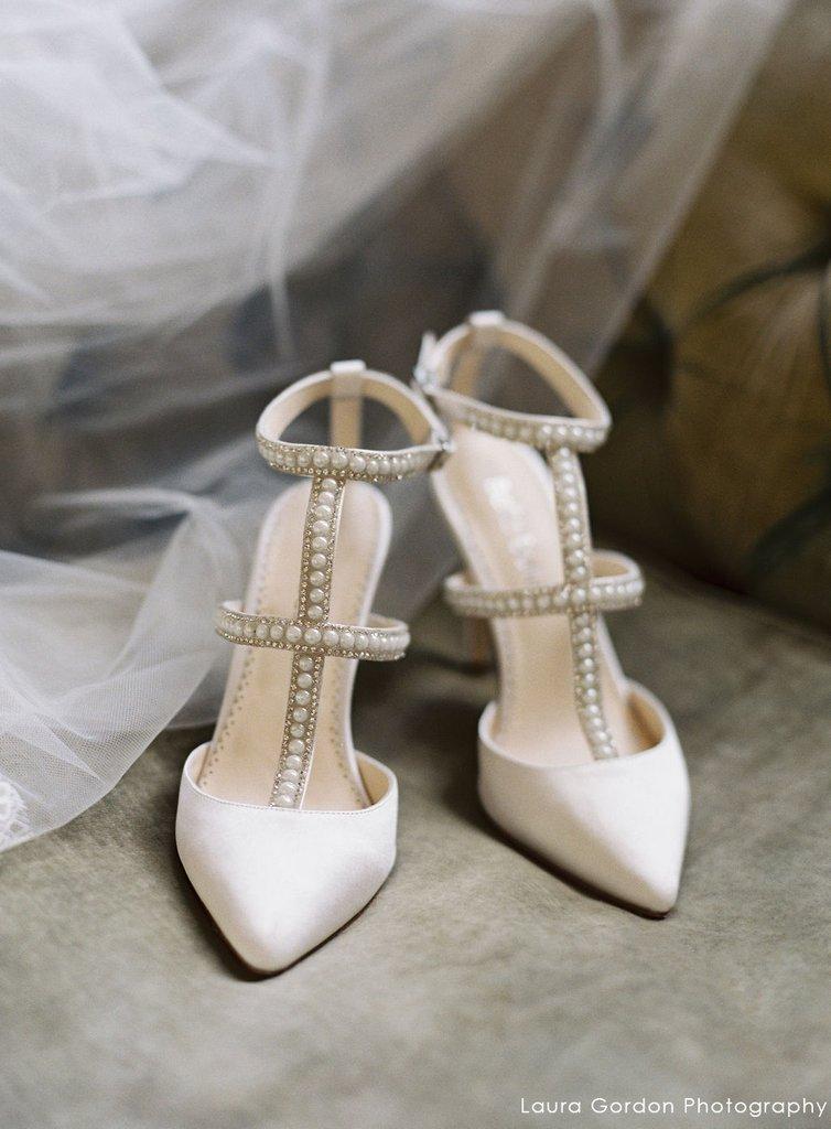 d3bd13126798 Carolina Silver Crystals   Pearl T-Strap Wedding Heel