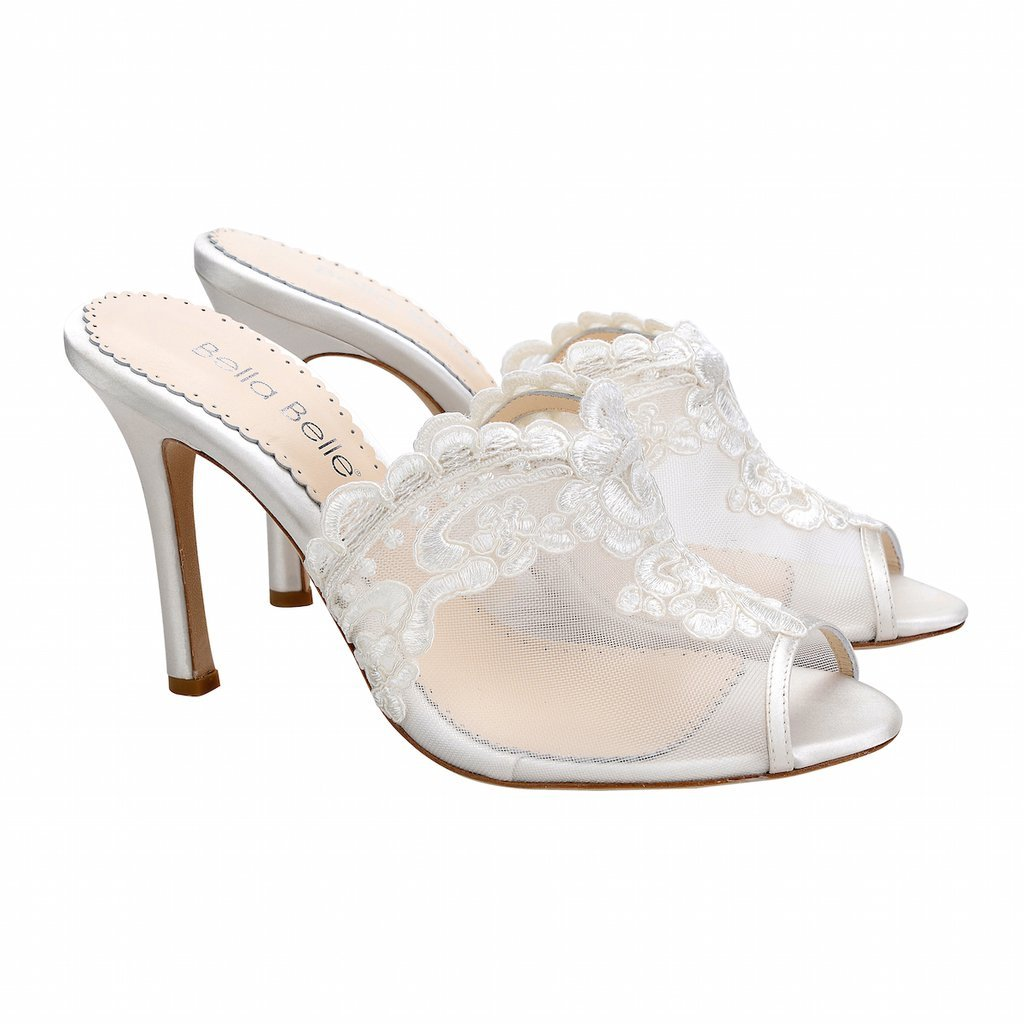 78326fecebc Natalie Ivory Floral Embroidery Mule Wedding Shoe