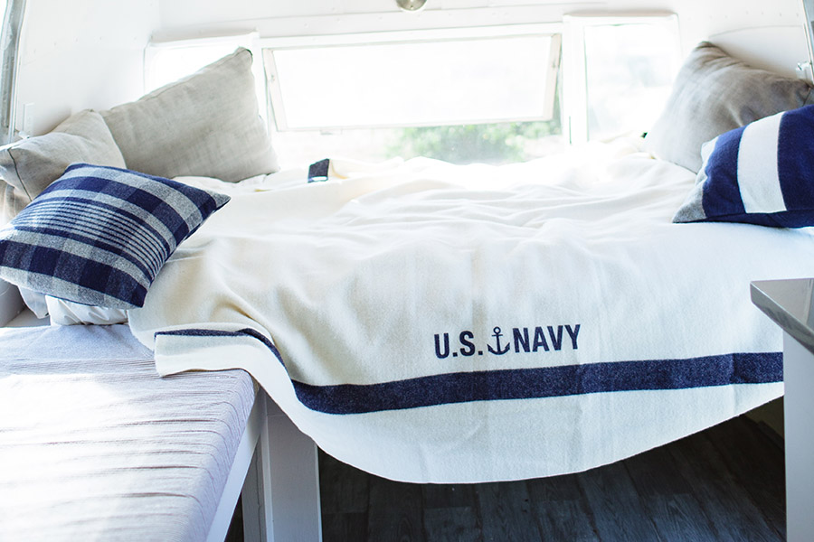 image of Foot Soldier Military Wool Blanket/Throw - U.S. Navy Cream