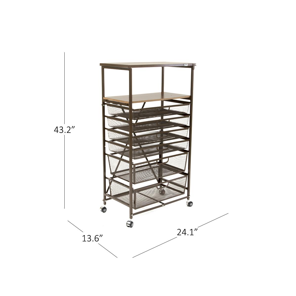 6 Drawer Craft Cart | Origami Rack - photo#30