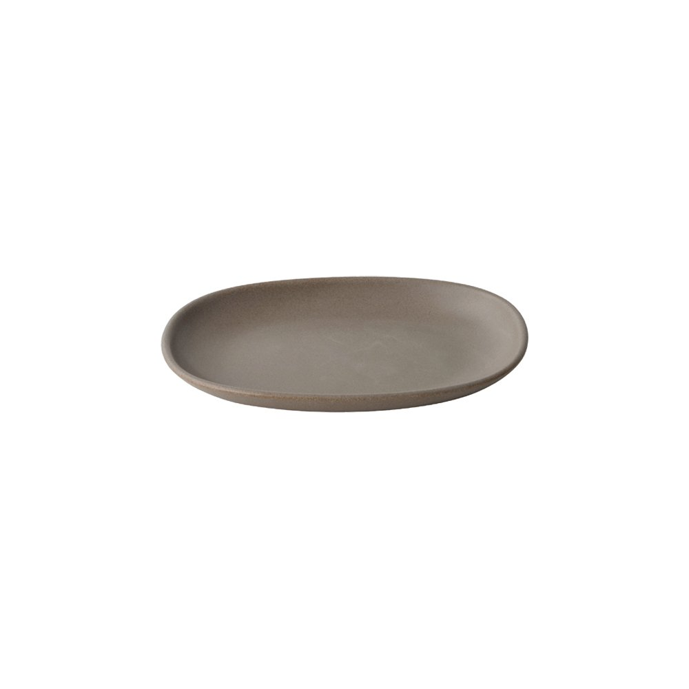 KINTO NEST RECTANGLE PLATE 195MM BROWN