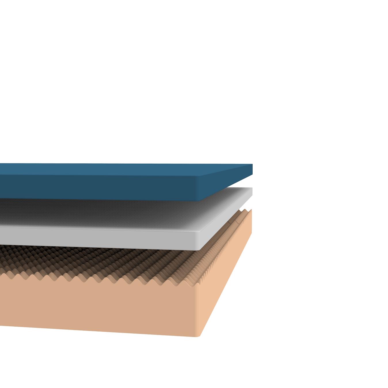 "ALL SIZES Luxury 1.5/"" Aqua Blue Cooling Gel Infused Memory Foam Mattress Topper"