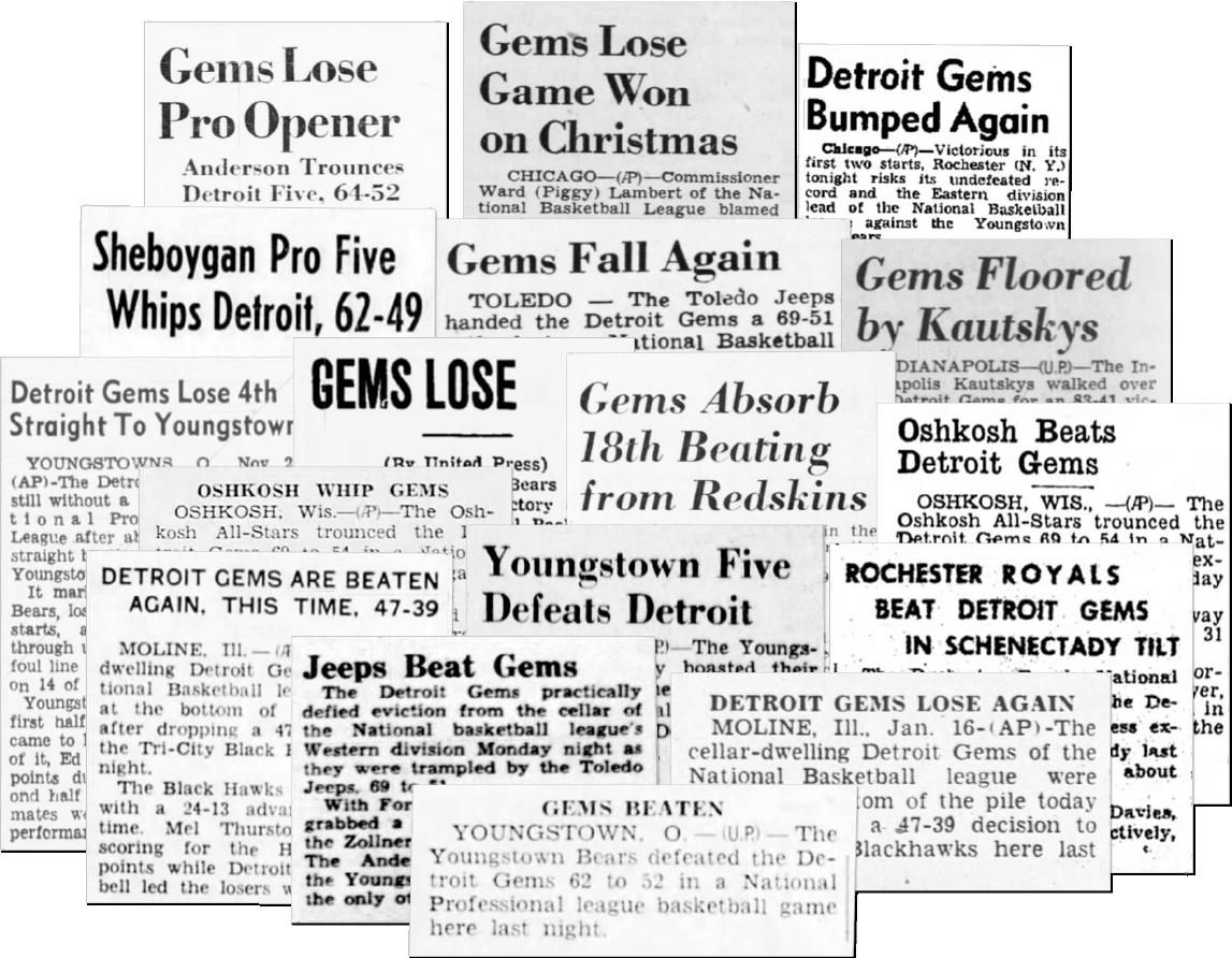 PeoplesGarmentCo • Detroit Gems tshirt - 1946