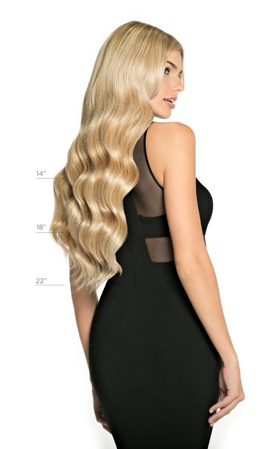 Layered Halo® Extension - 14/24 | Light Warm Blonde with Highlights available lengths