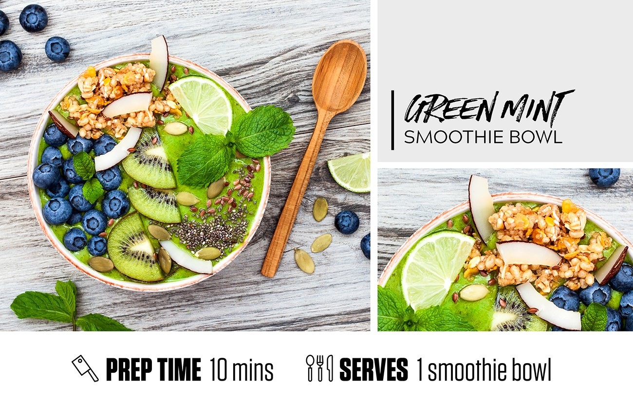 Green Mint Smoothie Bowl
