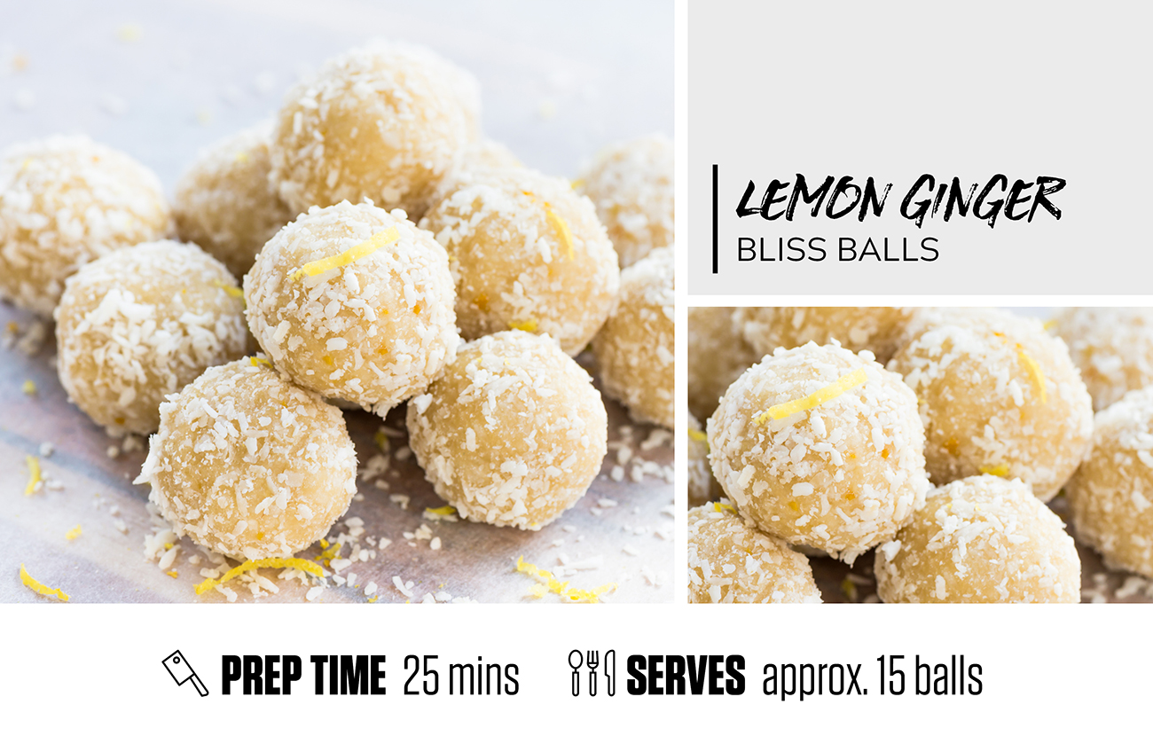Lemon Ginger Bliss Balls