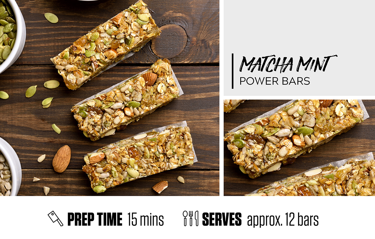 Matcha Mint Power Bars