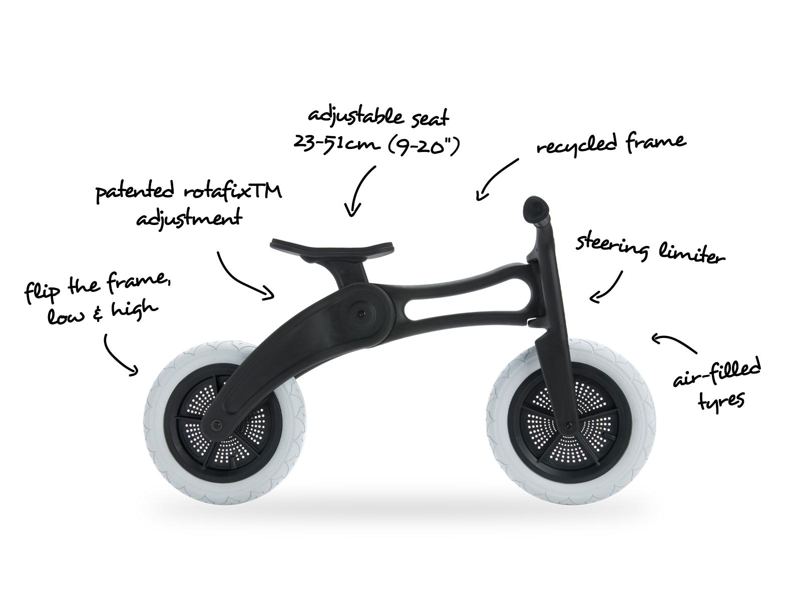 Wishbone Bike Recycled Edition 3in1 Black – Wishbone Design