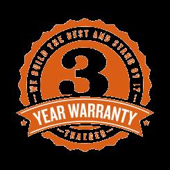 3 -YEAR Warranty