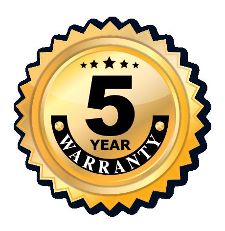5 Year Premium Warranty