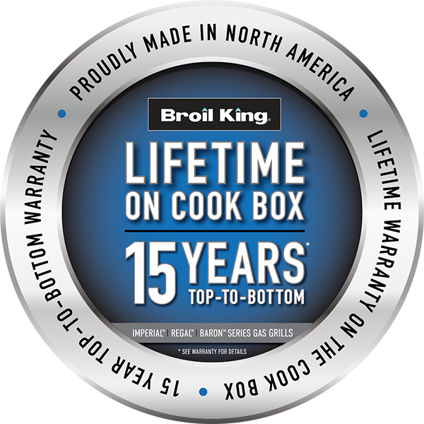 Lifetime on Cook Box 15 Year Top-To-Bottom Warranty