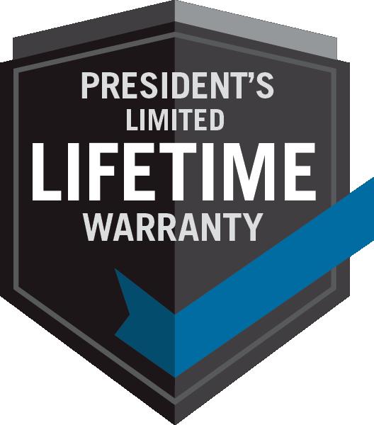 Napoleon President Limited Lifetime Warranty