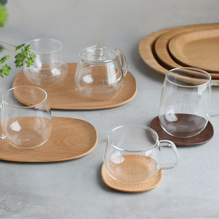 KINTO UNITEA COASTER 100×100MM / 4X4IN BEECH