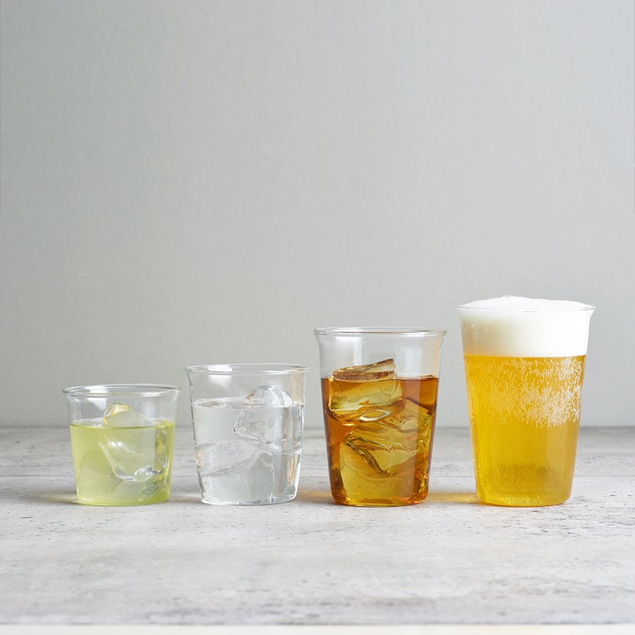 KINTO CAST ICED TEA GLASS 350ML / 12OZ CLEAR