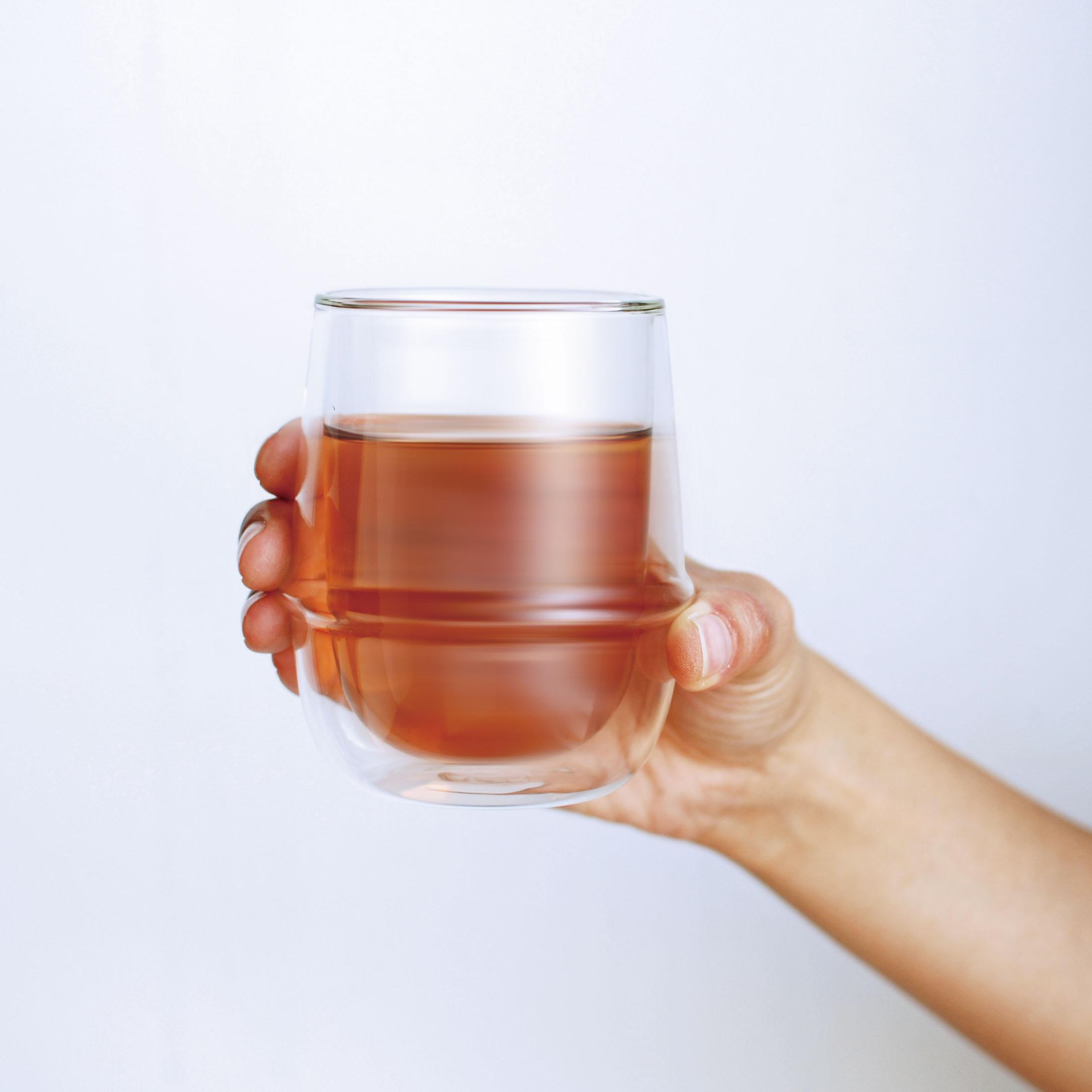 KINTO KRONOS DOUBLE WALL ICED TEA GLASS 350ML / 12OZ CLEAR THUMBNAIL 2