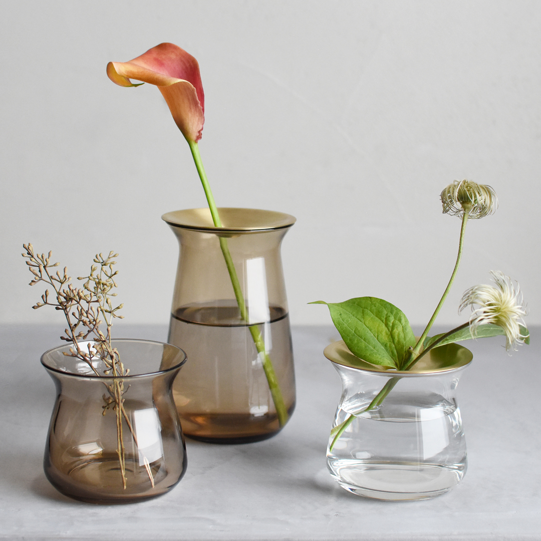 KINTO LUNA VASE 80X70MM / 3X3IN CLEAR THUMBNAIL 3