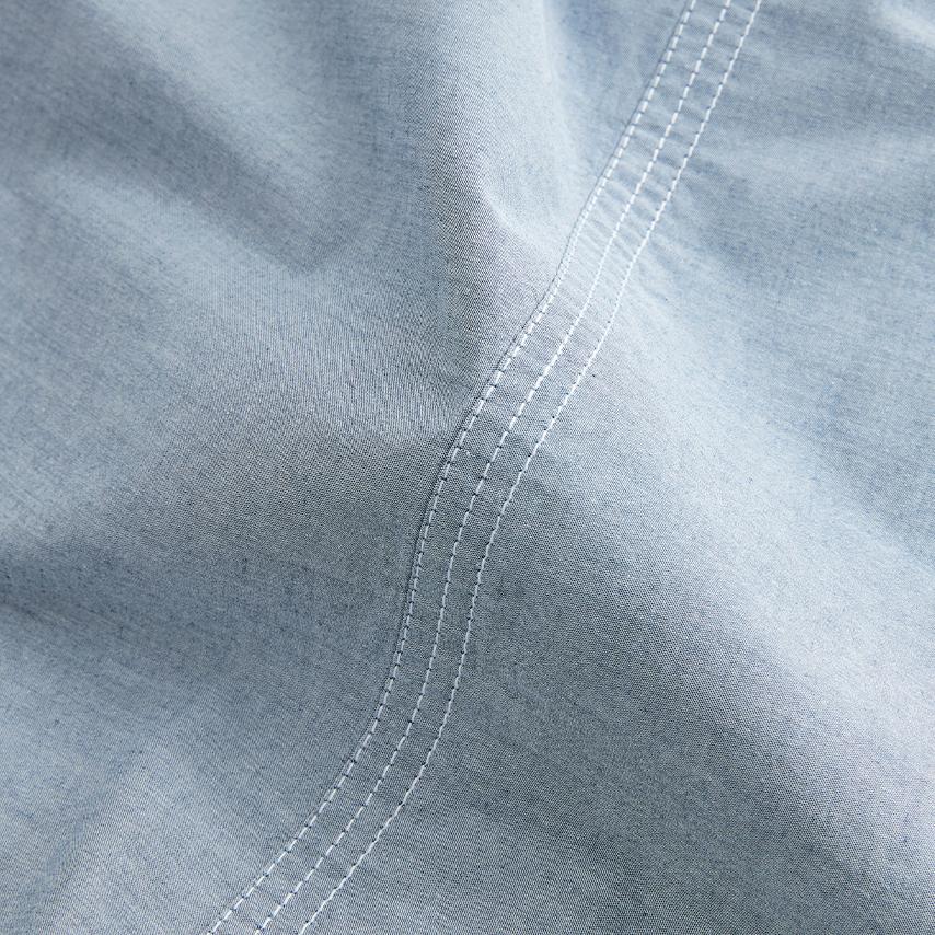 Chambray Triple Stitch Sheet Set