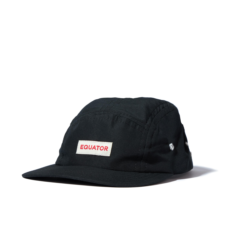 Equator Black Nylon Camper Hat
