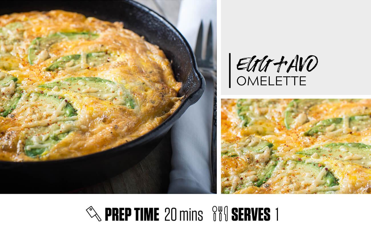 Easy Egg and Avo Omelette