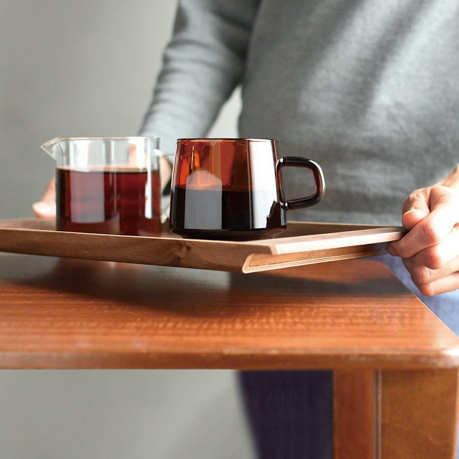 SEPA mug 340ml on a SEPIA nonslip tray