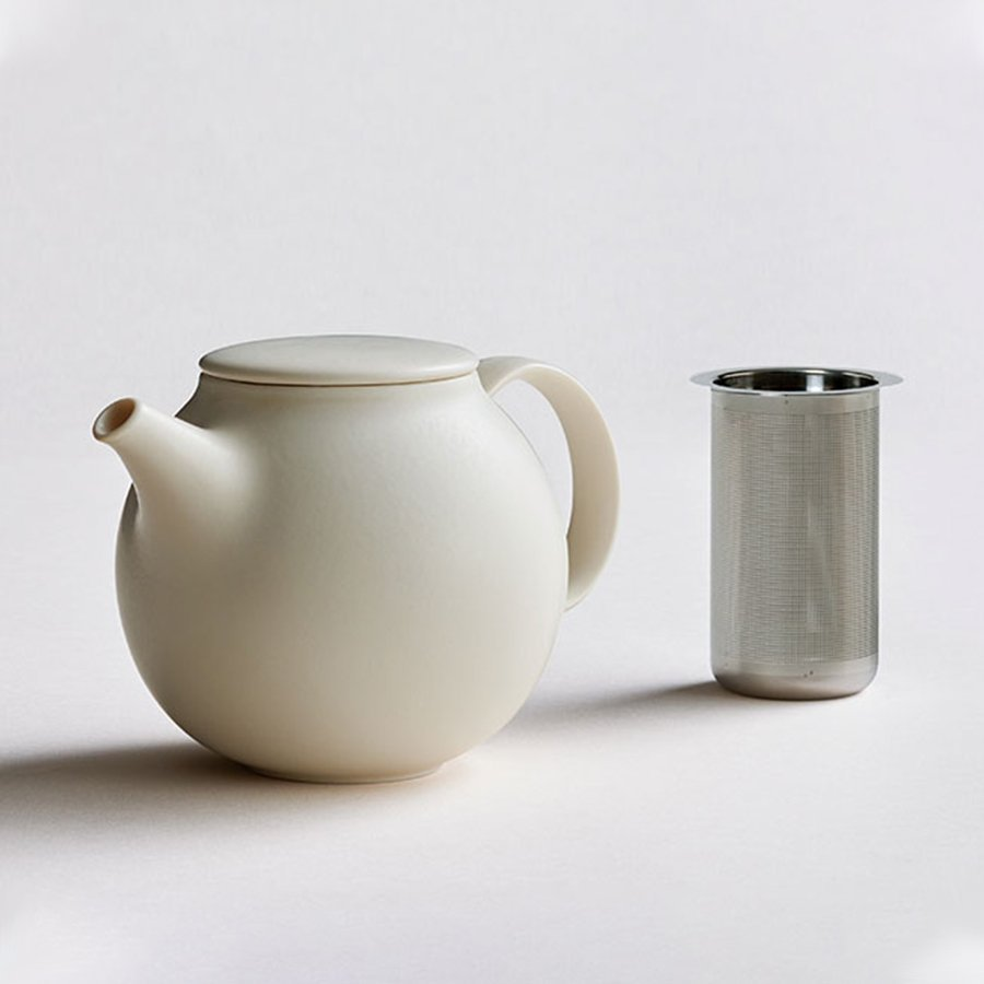 PEBBLE teapot with stainless steel strainer