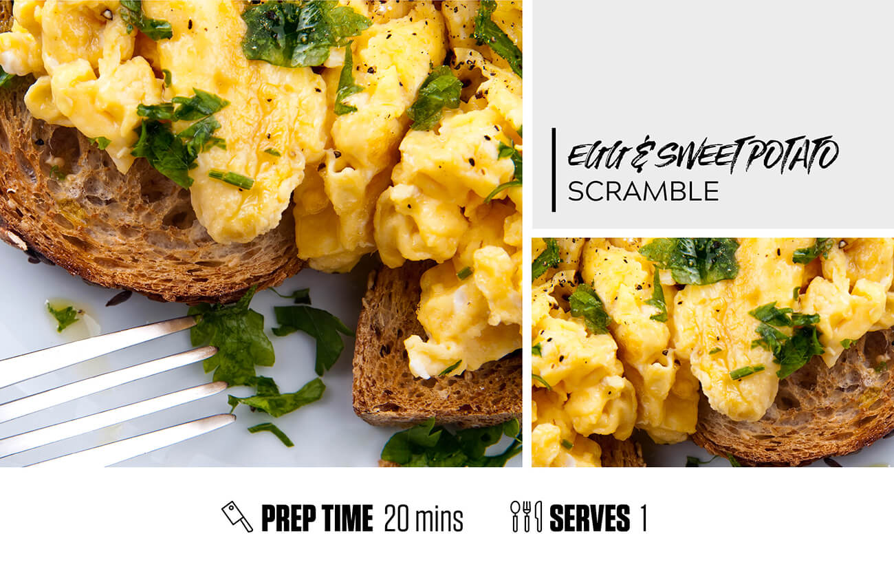 Egg + Sweet Potato Scramble
