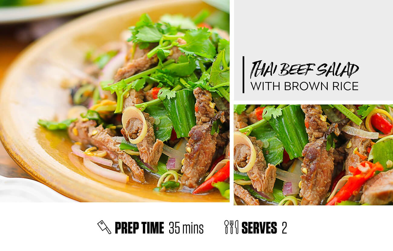 Thai Beef Salad with Brown Rice