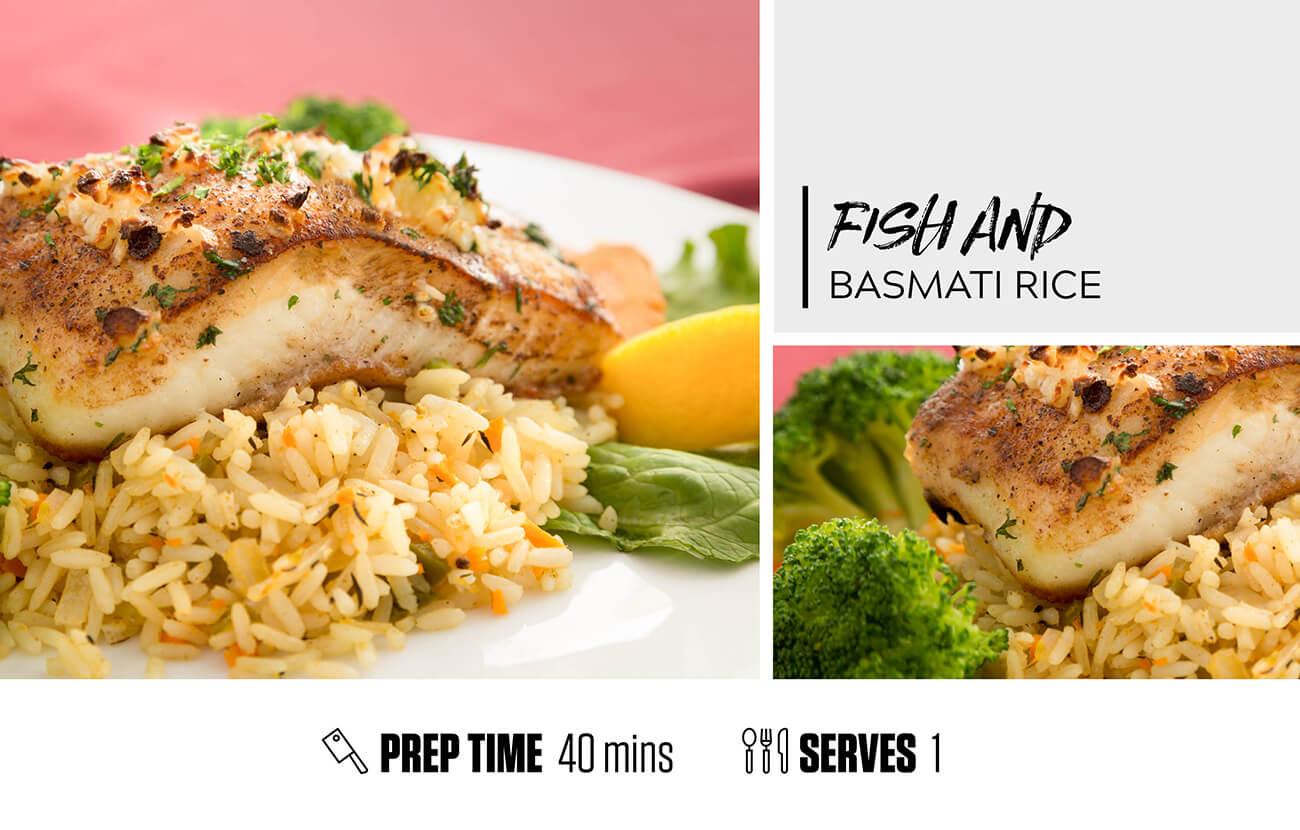 Fish and Basmati Rice