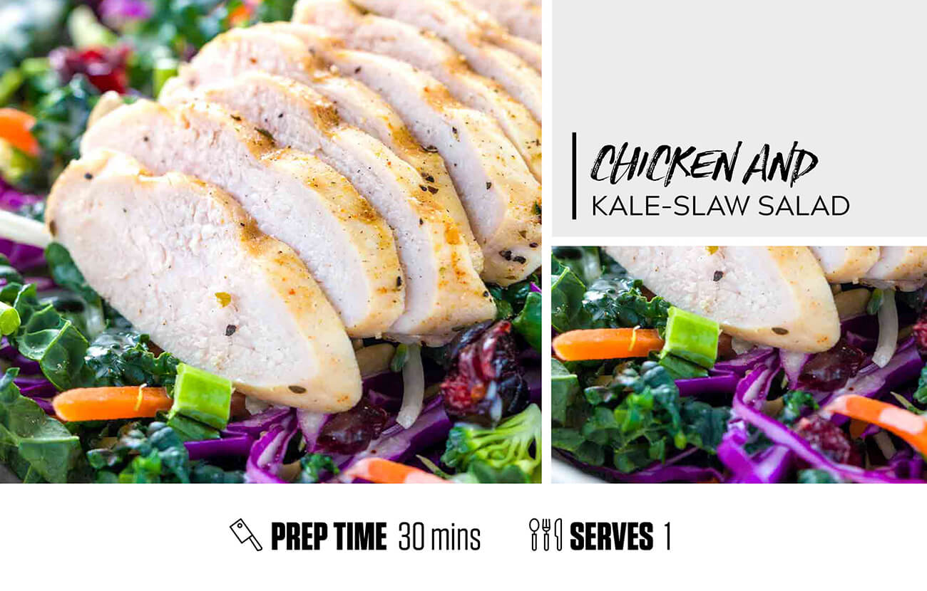 Chicken & Kale-Slaw Salad
