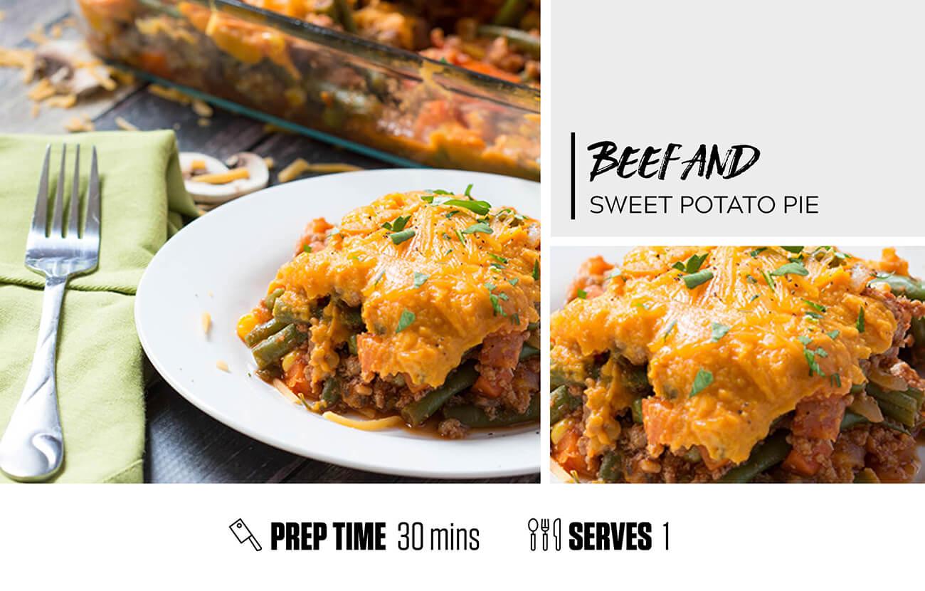 Beef and Sweet Potato Pie