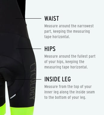 WOMENS SHORTS – SIZE GUIDE