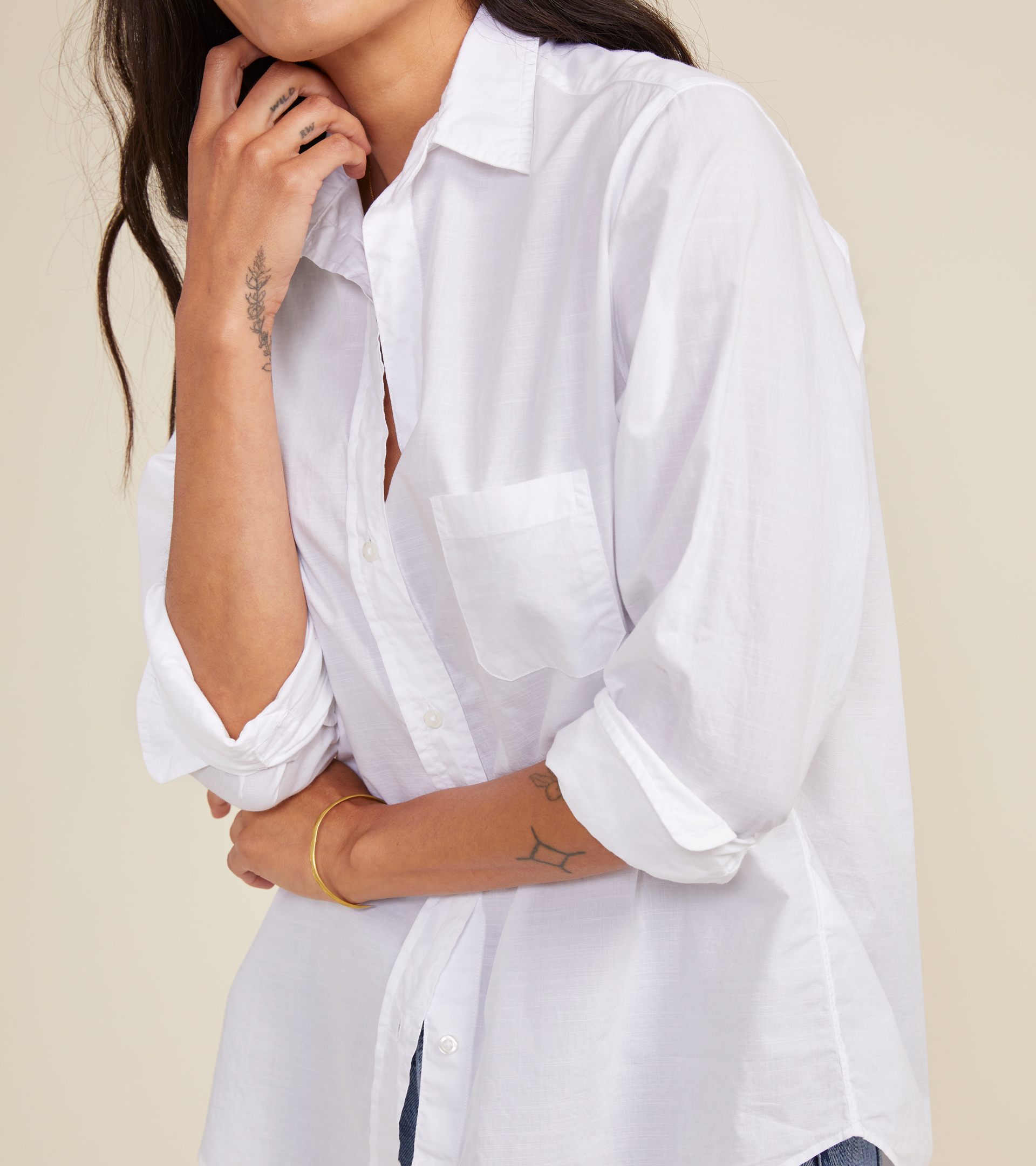 Image of The Hero Classic White, Washed Cotton