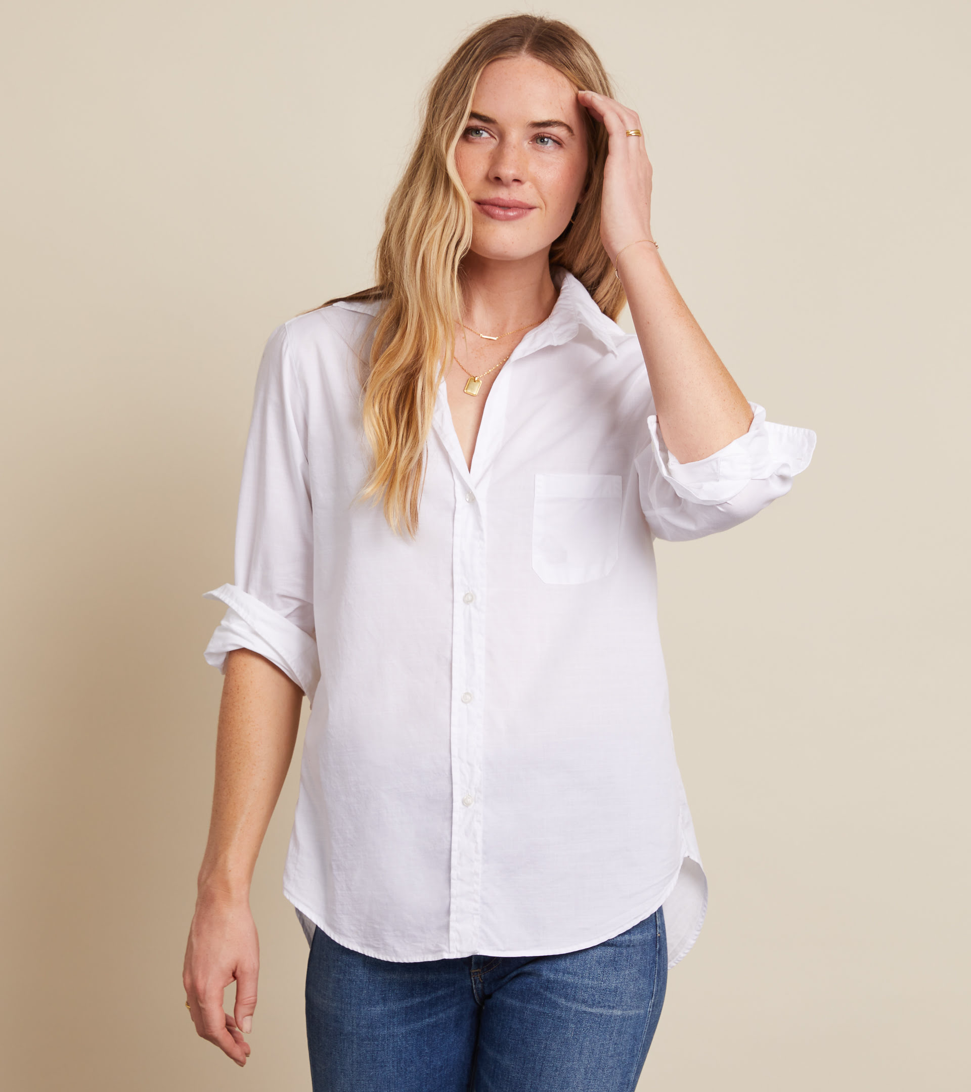 The Hero Classic White, Washed Cotton view 2