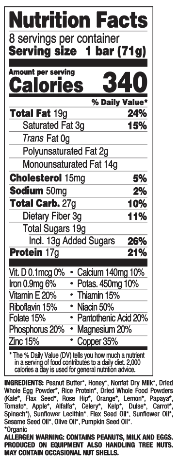Peanut Butter nutritional information