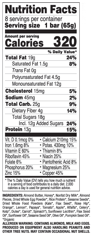 Almond Butter nutritional information