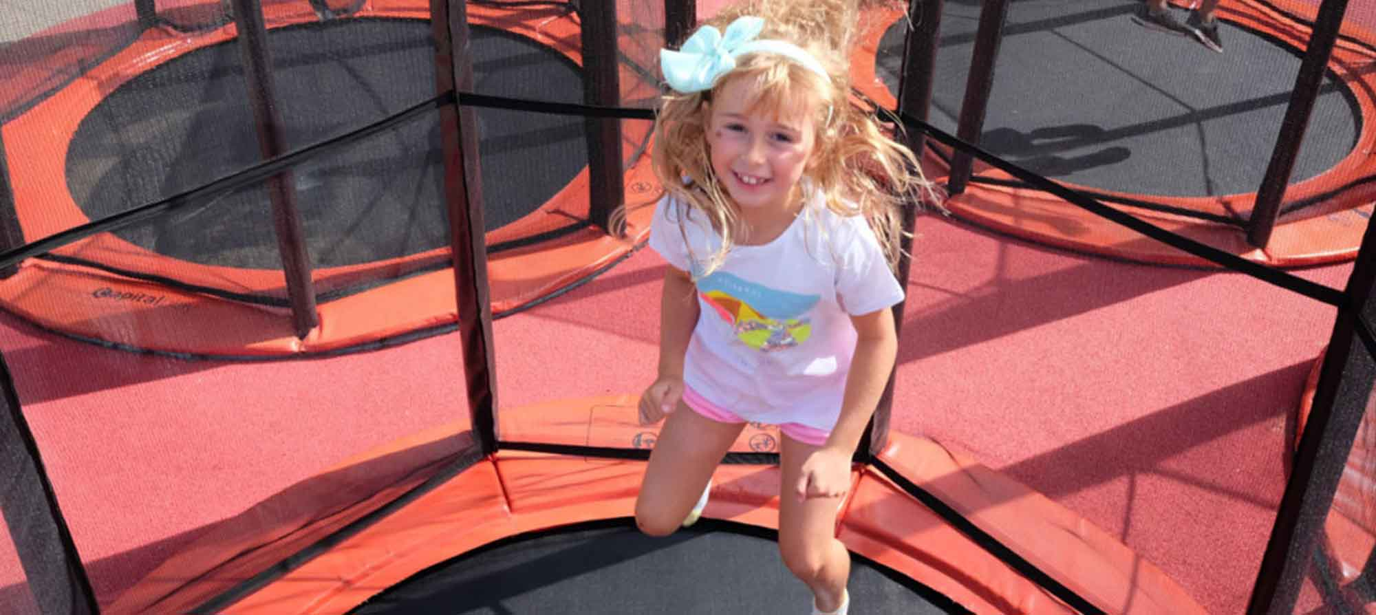 Trampolines for family attractions