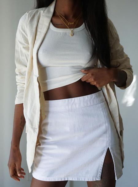 White Mini Skirts (Side B)