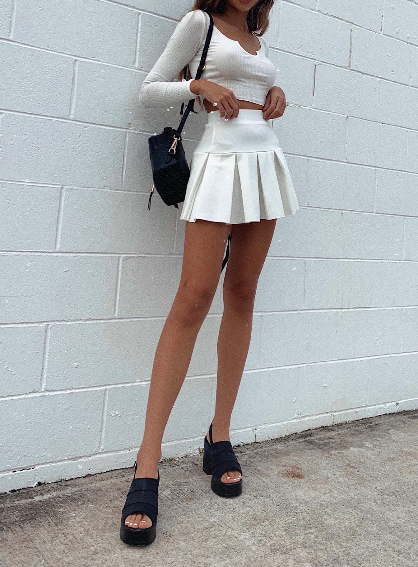 Pleated Mini Skirts (Side A)
