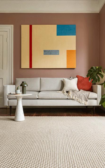Model 01 3 Seater Sofa in Light Grey Velvet