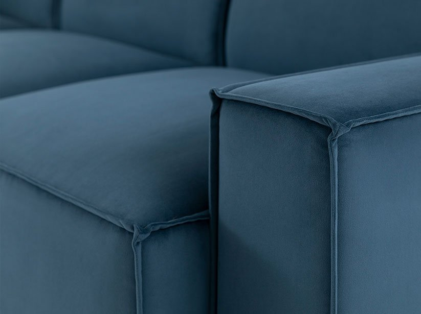Close up of Model 03 Sofa Arm and Cushions