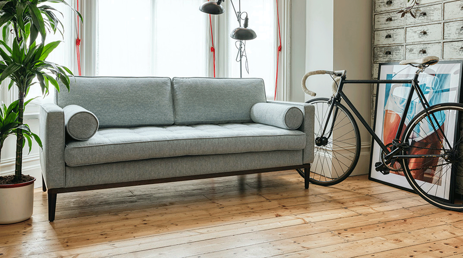 Model 02 3 Seater in Seaglass Linen