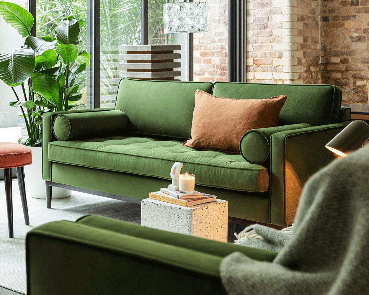 Model 02 Sofa Set in Vine Velvet