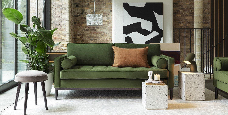 Model 02 Sofa in Vine Velvet