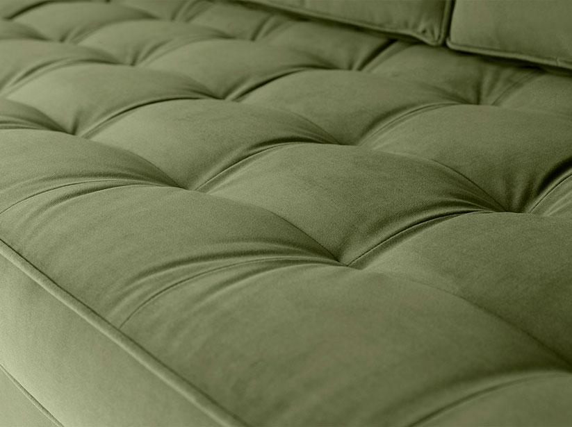 Close up of seat cushion